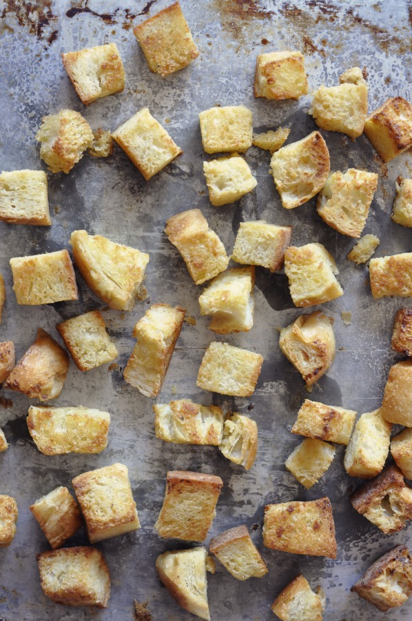 croutons done small