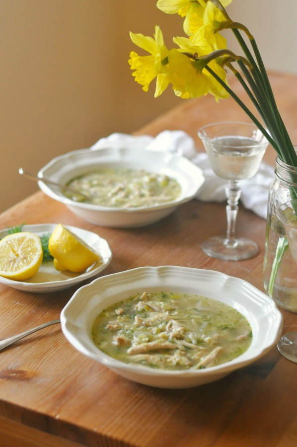 chicken orzo soup with lemon