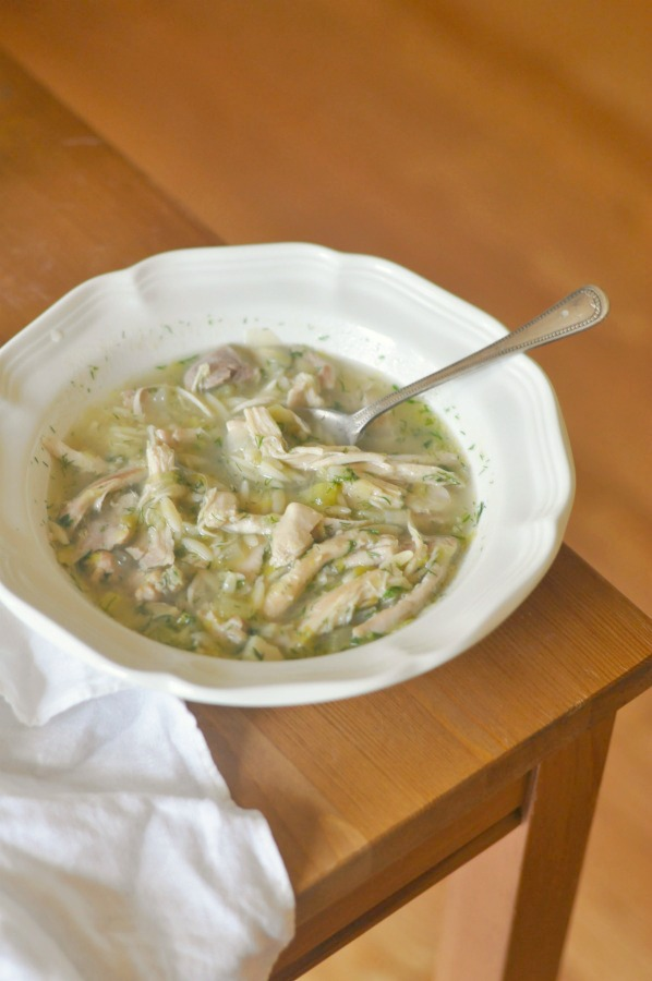 lemon and orzo soup