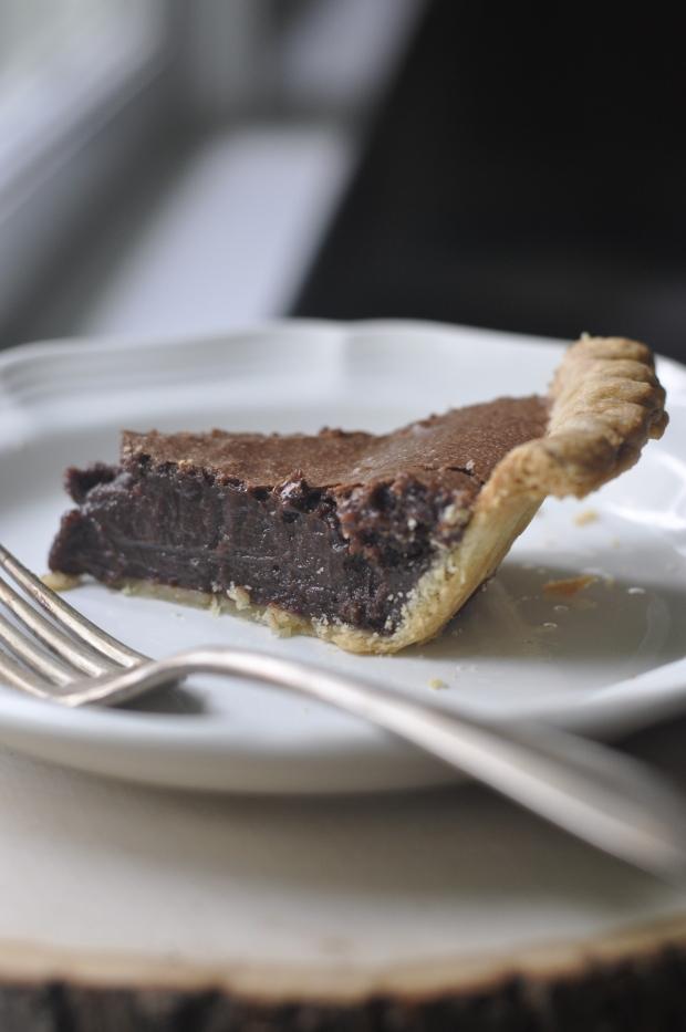 fudge pie slice